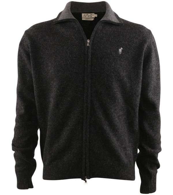 Cardigan dark mix grey
