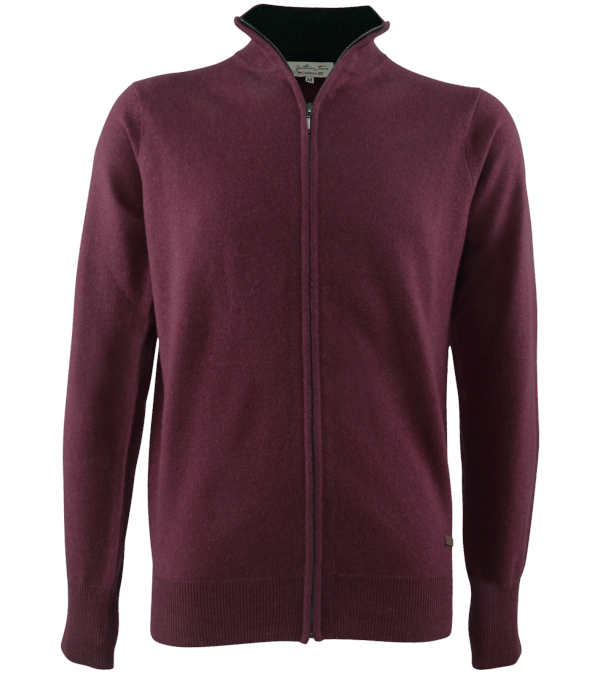 Cardigan cachemire Leston burgundy