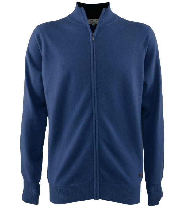 Cardigan cachemire Leston blue