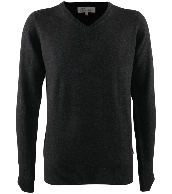 Pull col V Luce dark mix grey