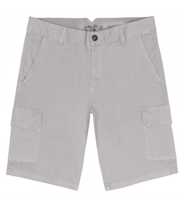Short cargo Percy gris clair