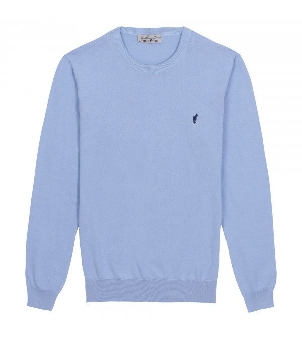 Pull col rond Lilian sky