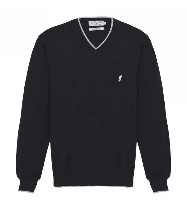 Pull col V Lucky black