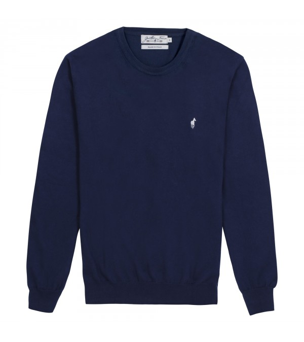 Pull col rond Lilian Navy