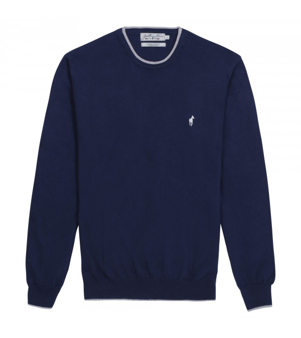 Pull col rond Lois navy