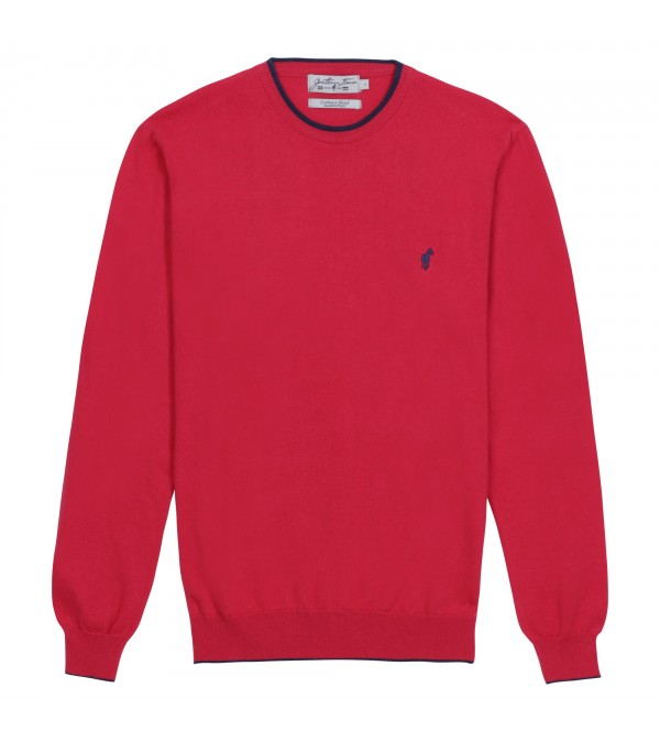 Pull col rond Lois red