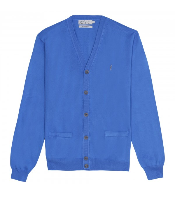 Cardigan boutonné Lorik true blue