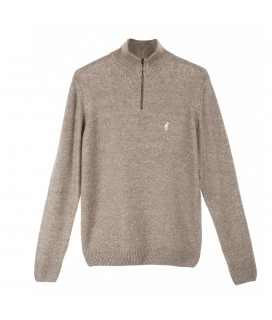 Pull LEANDRE taupe