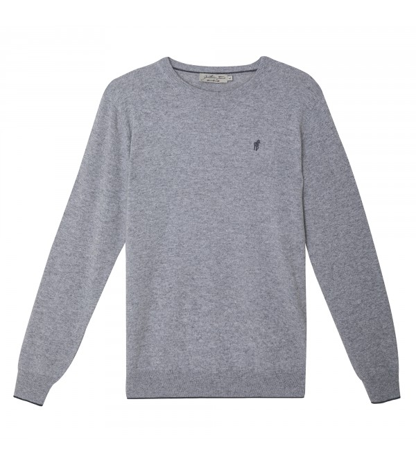 Pull LUTON Gris Clair Chine