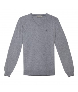 Pull LEEDS  Gris Clair Chine