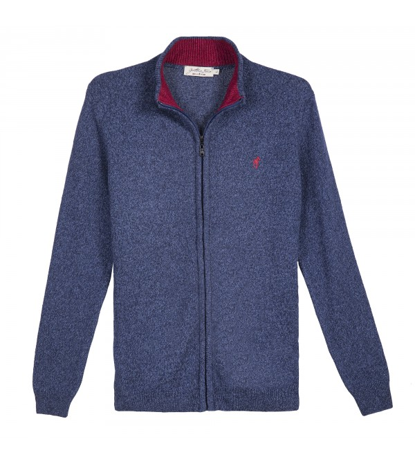 Cardigan LINCOLN Bleu Chine