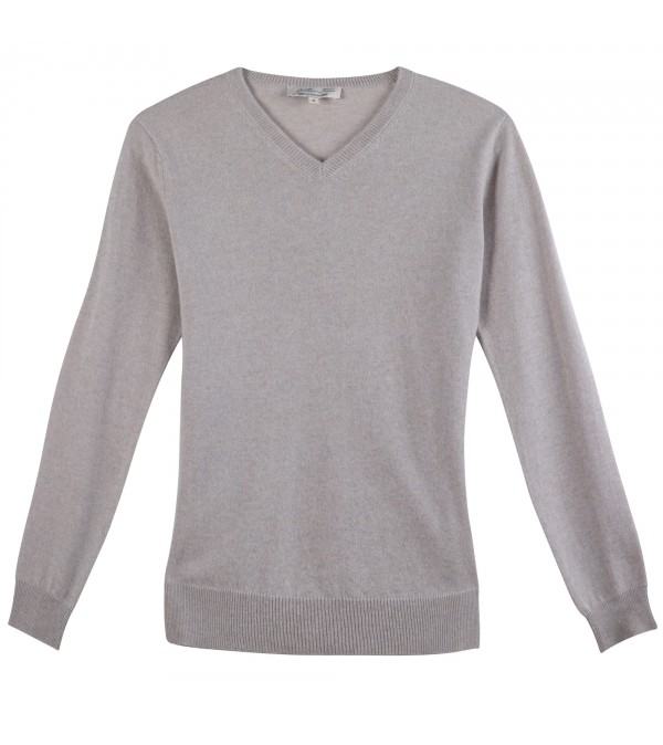 Pull cachemire CARLO gris clair