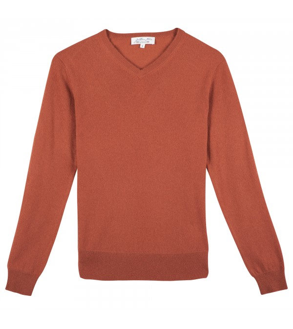 Pull cachemire CARLO rouge