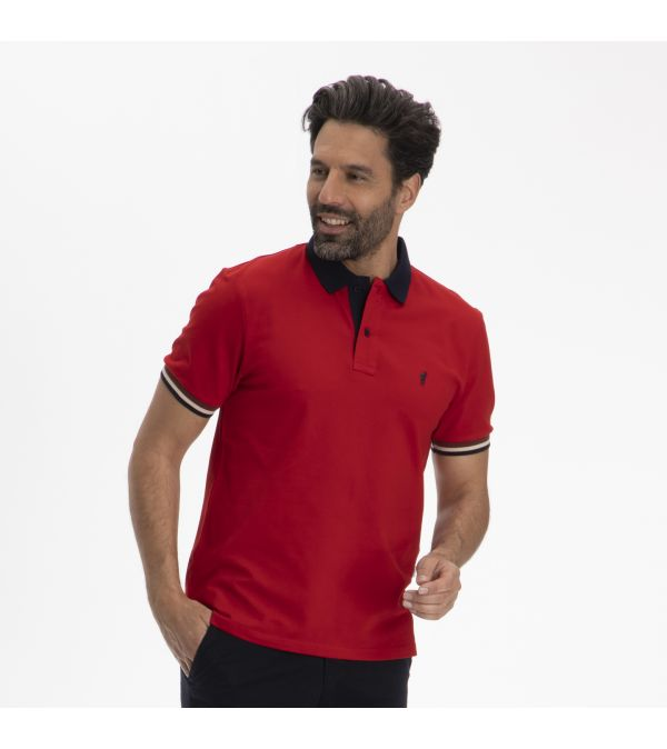 Polo OLIVE rouge
