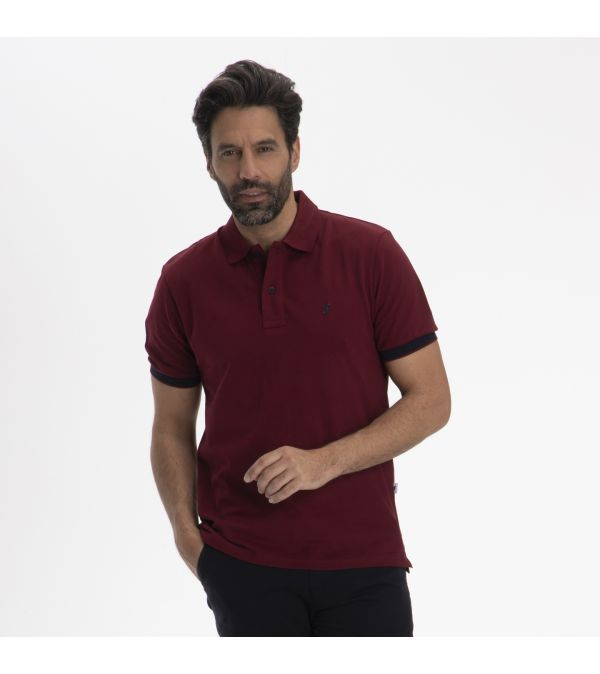 Polo OSCAR burgundy