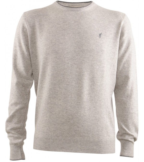 Pull col rond gris
